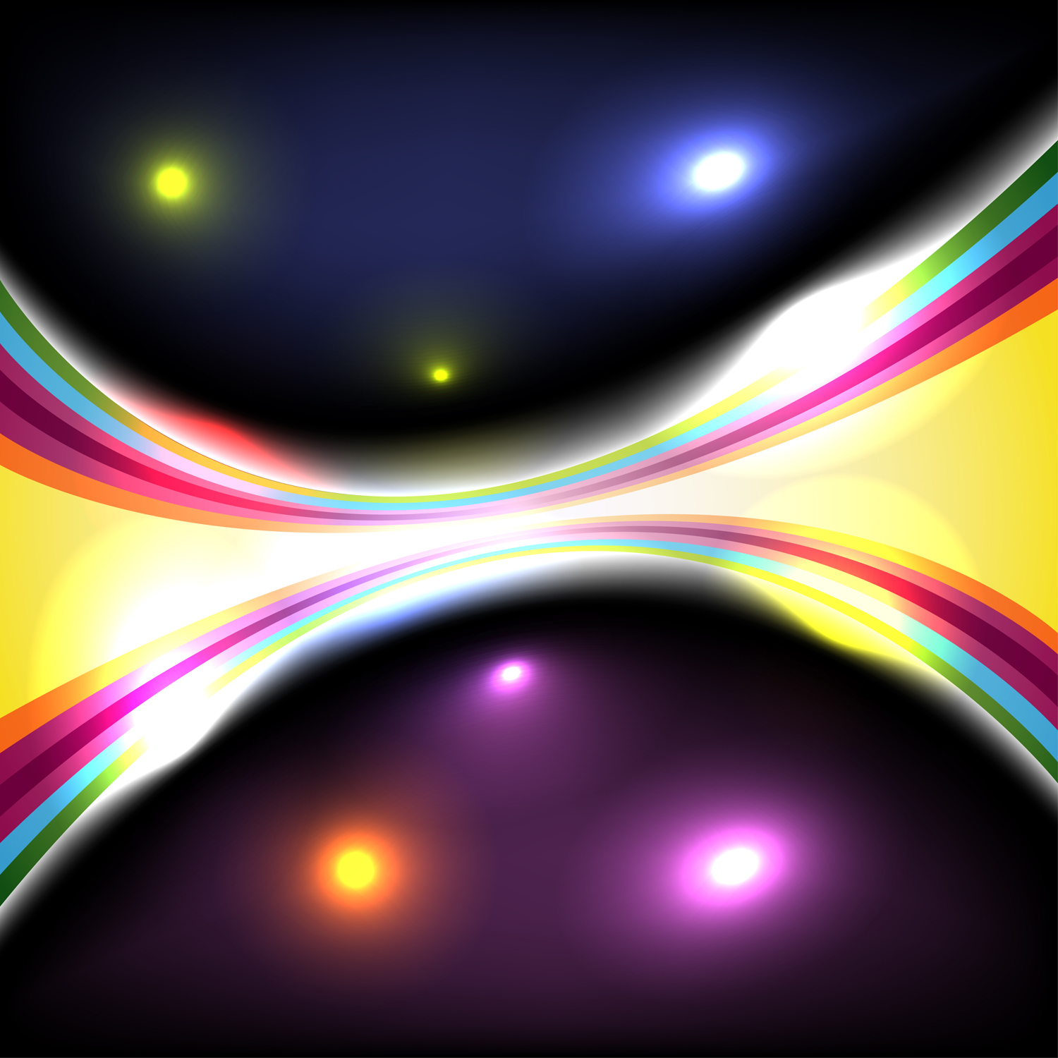 How to make abstract glowing effect in Illustrator ...