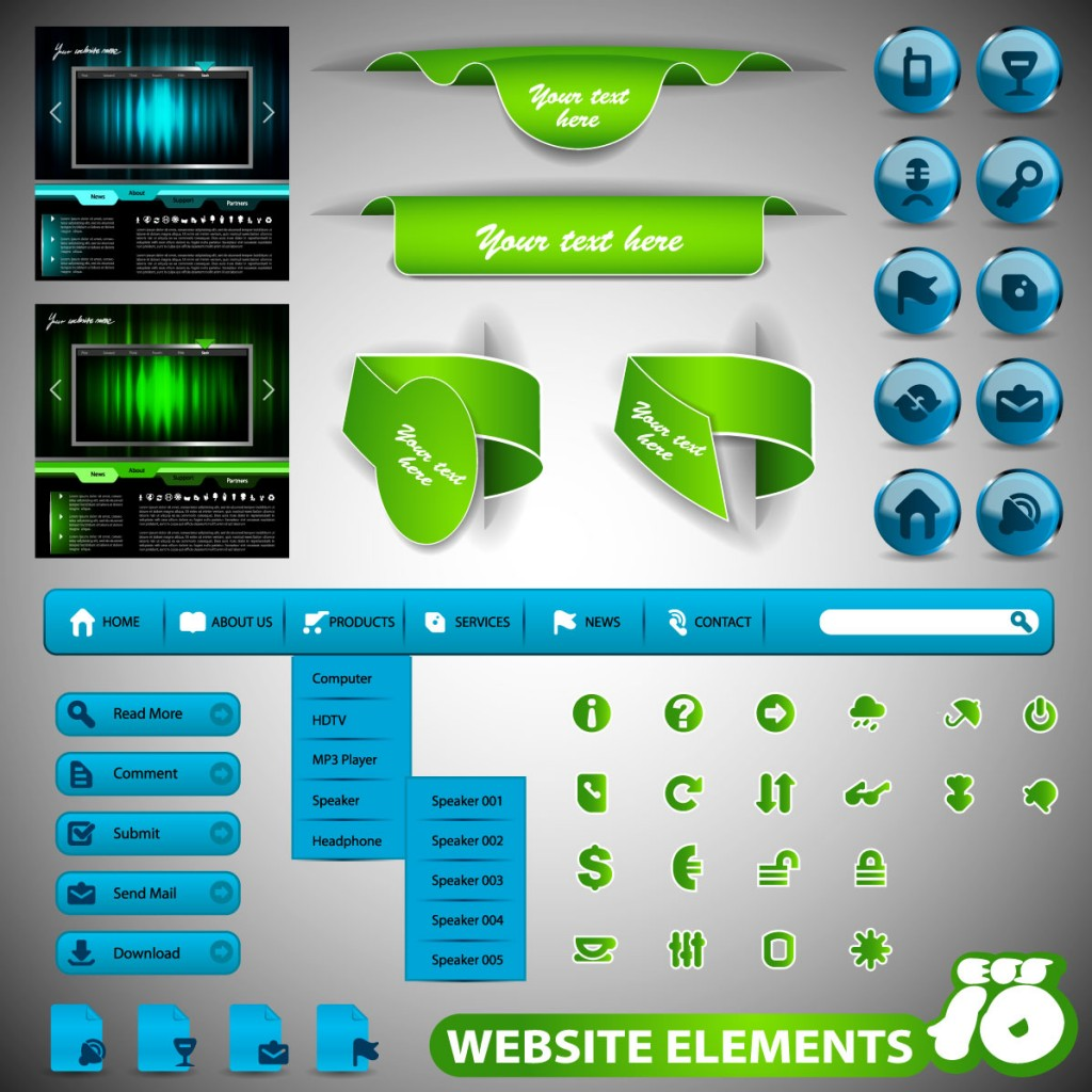 Vector Illustration Web Designs: Vector Web Design Elements