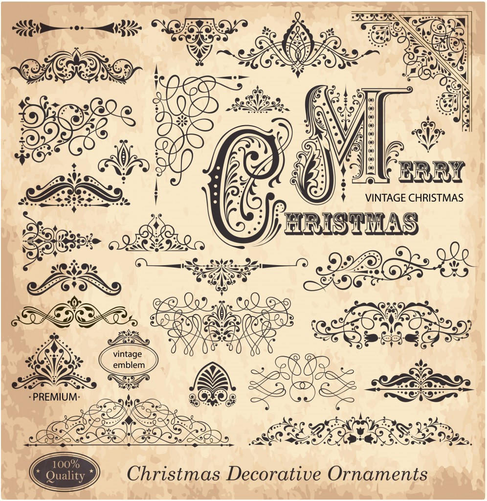 How to draw a christmas decoration - Calligraphic Christmas Decorations
