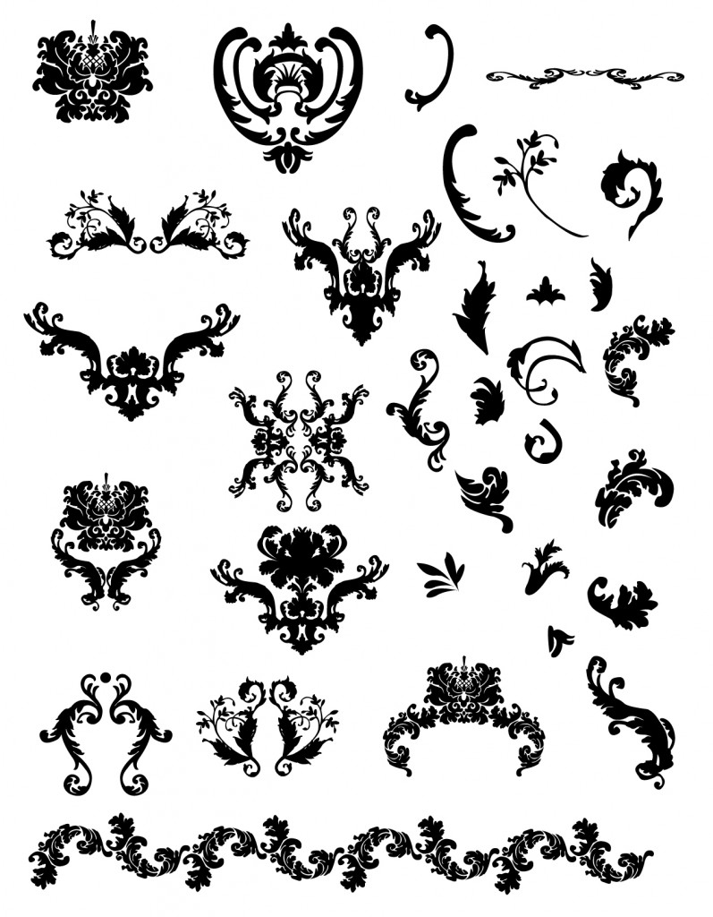Free calligraphic vectors design inspiration vexels blog for Design ornaments