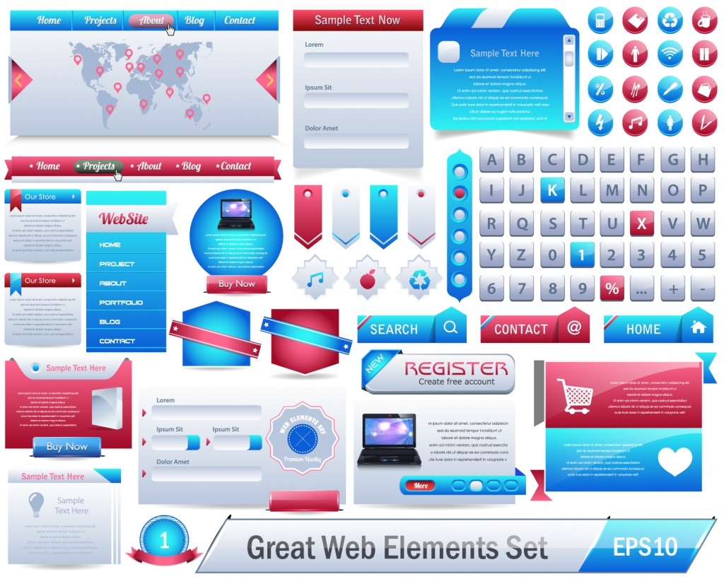 Elements For Design : Vector web design elements inspiration vexels
