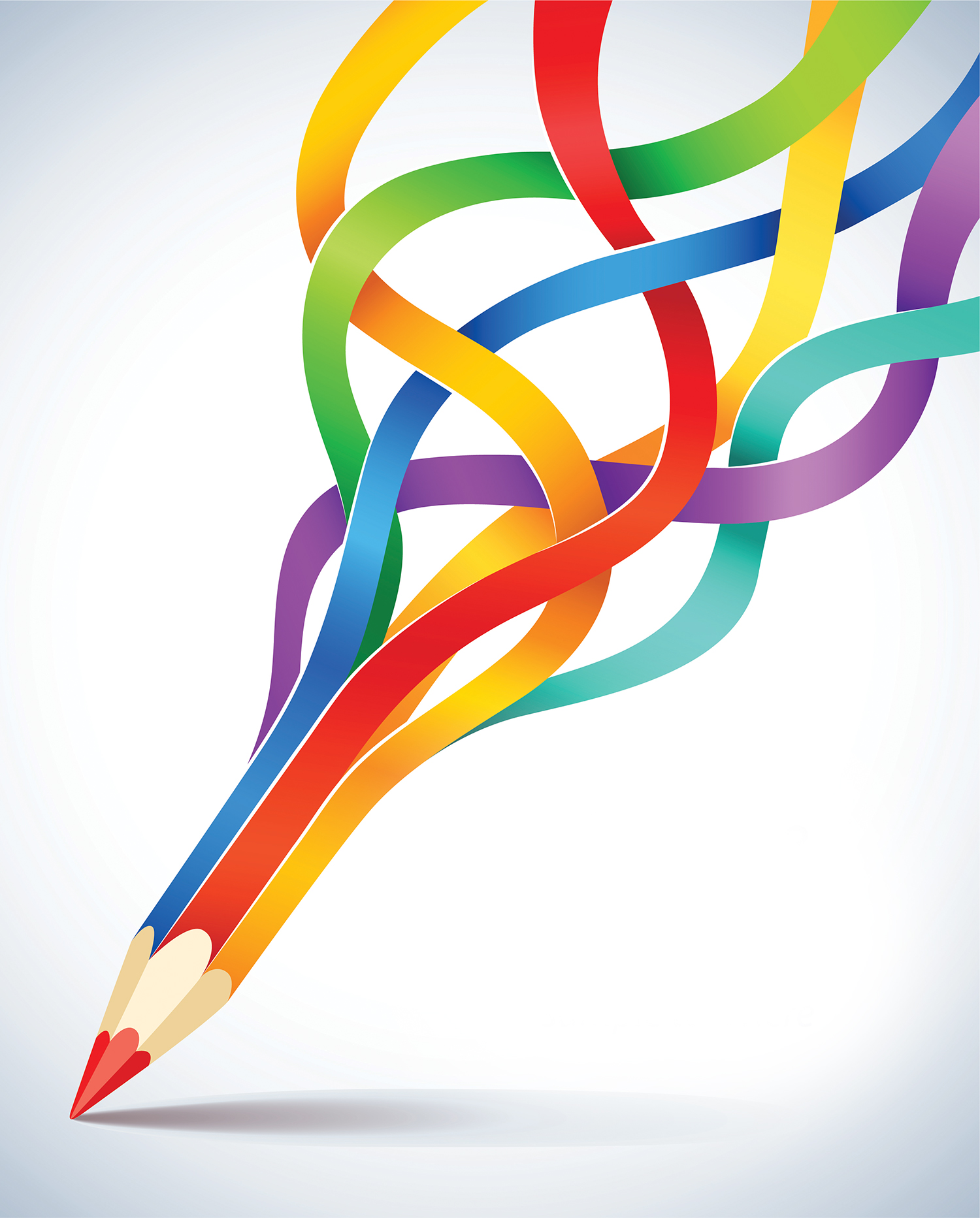 creative vector pencil concept colors flowing illustrations creation found travel