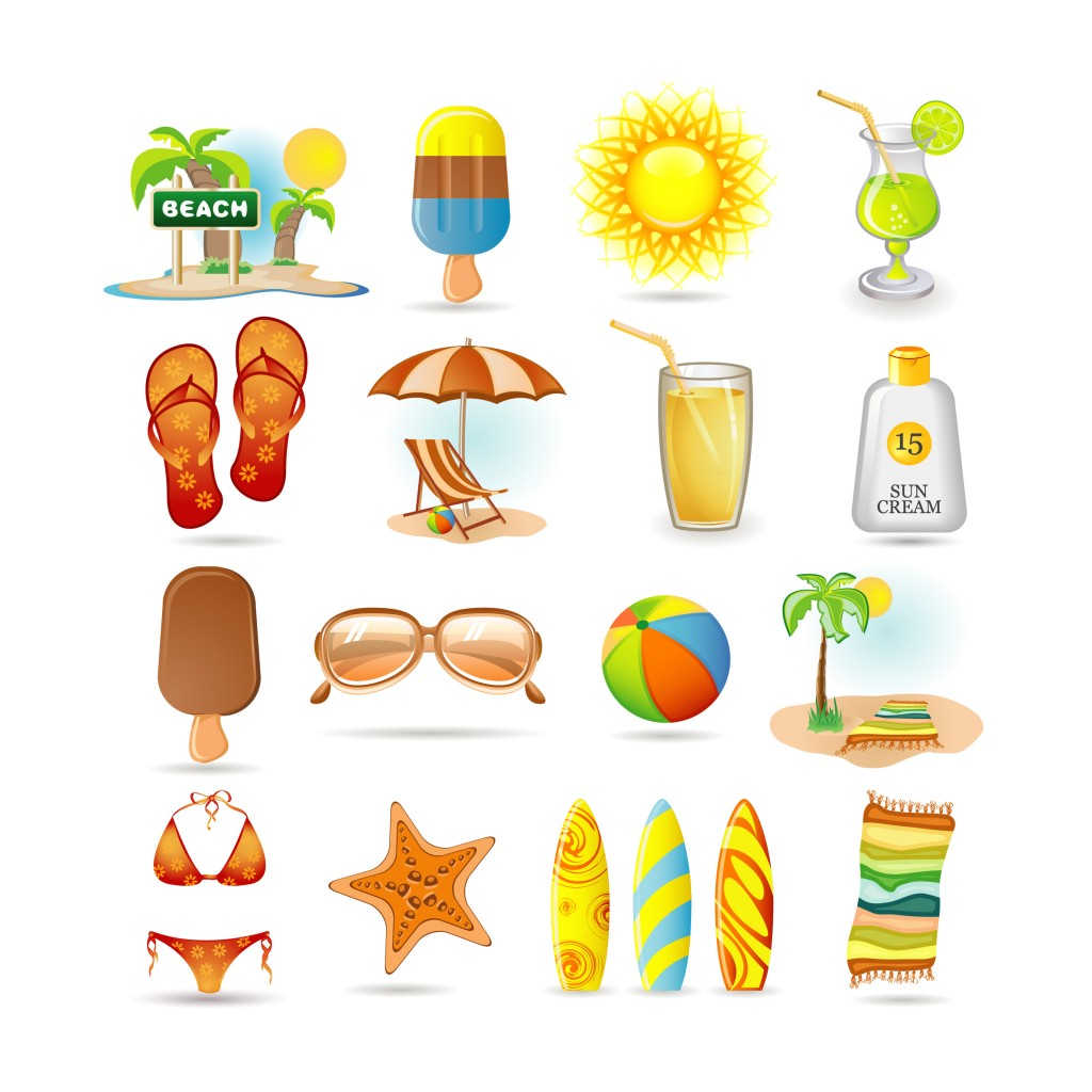 Vector Summer Objects