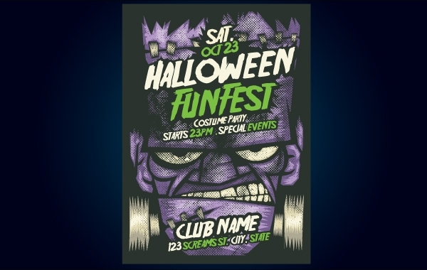 3cd065d894bd04efa8065be611b3dfb6-frankenstein-halloween-flyer-template
