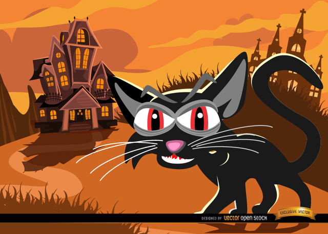 aa4a905e03dbb1043f0a1e8dcdad9009-black-cat-and-haunted-mansion-background