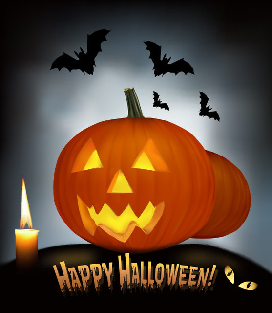 ea1757fa2520c7b8e576fd6a652aa6ef-creepy-pumpkin-bats-halloween-night-background