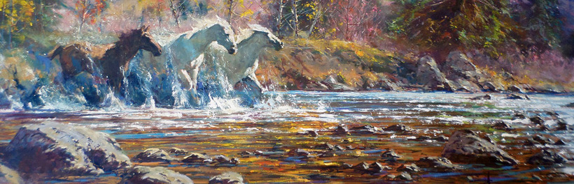 A Glimpse Of The Old West Paintings By Robert Hagan Design Inspiration Vexels Blog