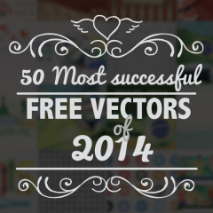 50 Most successful Free Vectors of 2014 by Vector Open Stock
