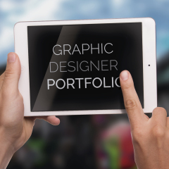 Create an effective graphic designer's online portfolio