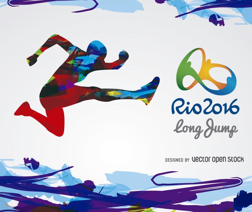 Rio 2016 long jump banner