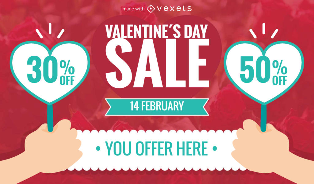 Valentine's Day sale banner or post