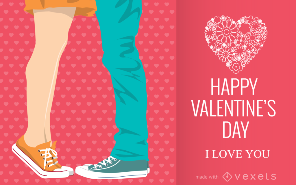 Illustrated Valentine's Day card maker