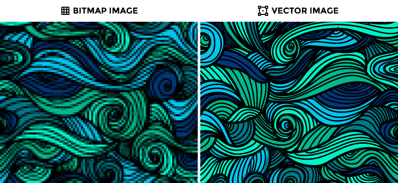 quality difference raster and vector