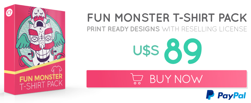 Buy Monster T-shirt collection license for resale