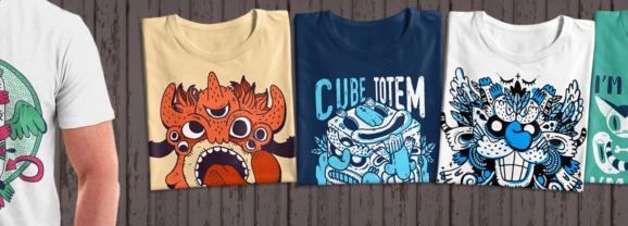 Fun Monster T-Shirt Pack  PRINT READY +  License