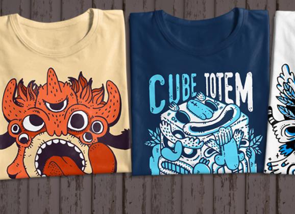 Fun Monster T-Shirt Pack  PRINT READY +  License