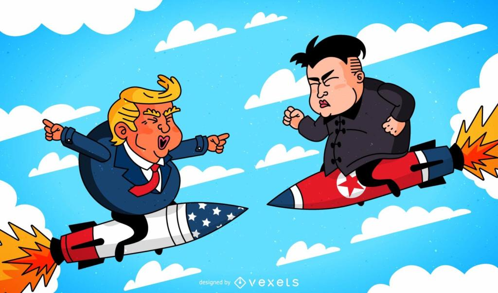 Trump and Kim Jong-un going to war