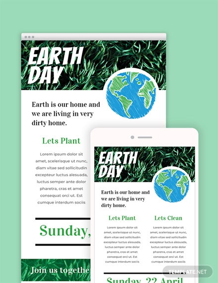 Earth Day Email Newsletter Template