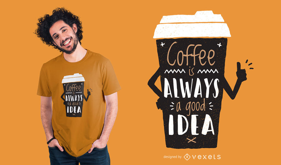 Cool Coffee T-Shirt Design