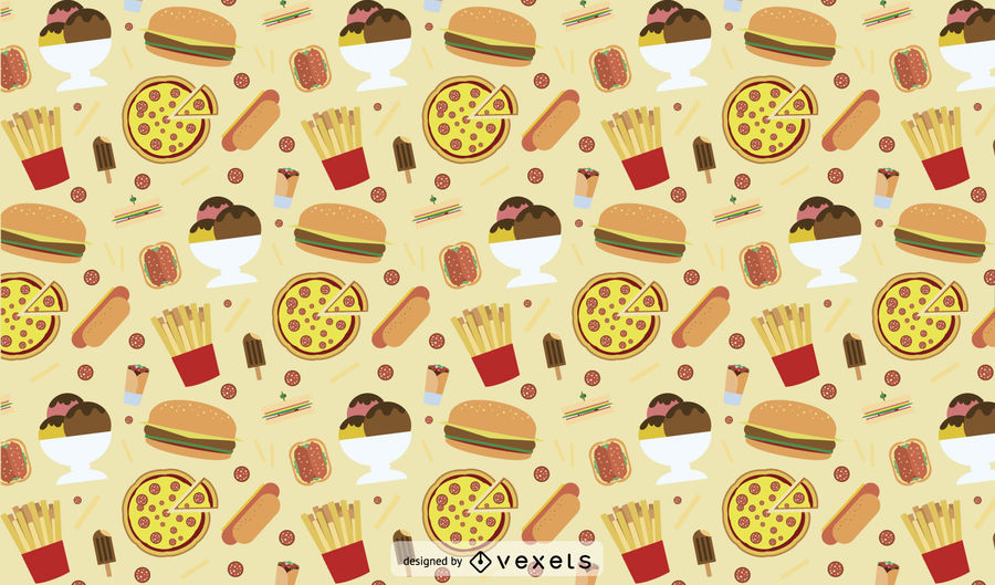 Junk Food Pattern Design