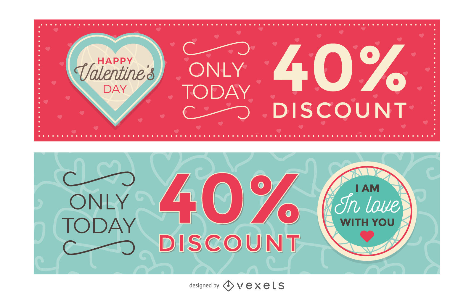 Valentines Day Sale Banners